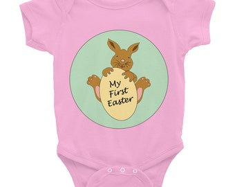 Easter Bodysuit, My First Easter, Easter Baby Shirt, Baby's First Easter, Easter Outfit, Easter Egg, Bunny, Easter Bunny, Baby Gift, Spring,
