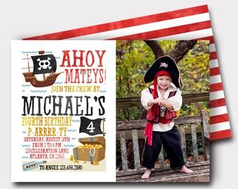 Pirate Birthday Invitation   Pirate Invitation   Pool Party Invitation   Beach Birthday Invitation   Boys Birthday Invitation   Pirate Ship