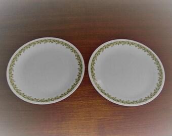 2 Corelle Corning Ware Spring Blossom Crazy Daisy Dinner Plates