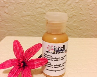 Liquid mineral foundation- Oil Free Foundation- All Natural Foundation-Vegan Foundation-Tinted BB Cream-
