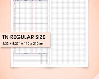 Weekly planner standard travelers notebook inserts printable, standard tn inserts wo1p (weekly printable inserts, week on one page)