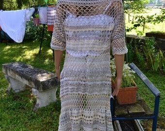 coat crochet lace