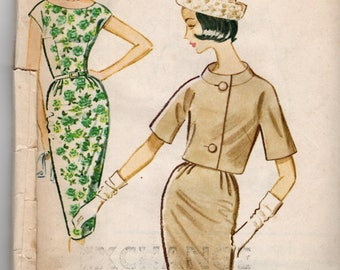 1961 VINTAGE MCCALLS PATTERN 5926 Dress & Jacket. Size 18. Bust 38