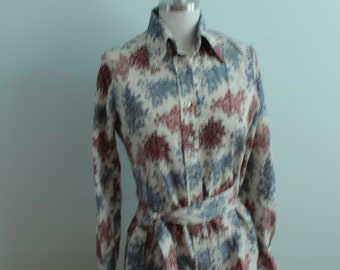 1970's Floral Shirt with Belt