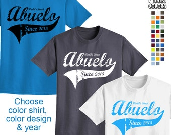 World's Finest Abuelo - Personalized w/ Year - Men's T-Shirt Great gift! (Spanish Grandpa) We carry sizes S - 5XL in 30 Colors!
