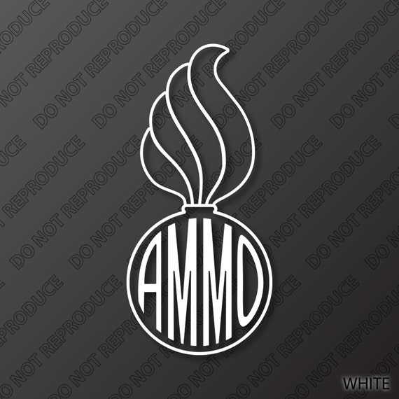 Ammo Pisspot 1 Color With Ammo Color Vinyl Decal