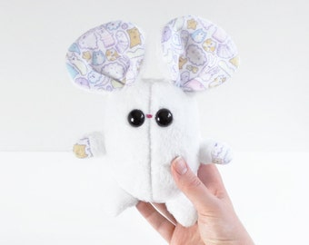 handmade collectable plushie mouse, kawaii plushie, handmade mouse, mouse toy, soft toy, handmade mouse doll, plush toy, toys, stuffed toy