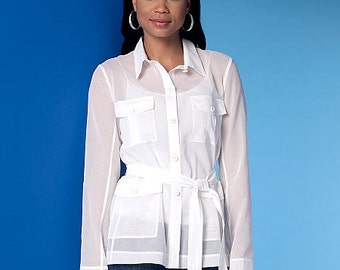 OUT of PRINT McCall's Pattern M7365 Misses' Safari-Style Collared Vest, Jackets and Belt