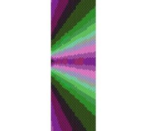 BPFR0016 Fractal 16 Even Count Single Drop Peyote Cuff/Bracelet Pattern