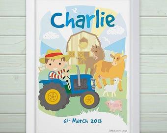 Personalised Little Farm Print
