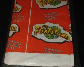 Vintage Flintstones Paper Party Tablecloth! 1993! Unopened!  Yabba Dabba Doo!