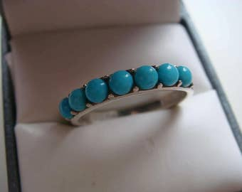 Turquoise Silver Band