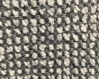 Grey and White Woven Dots - Upholstery Fabric by the Yard
