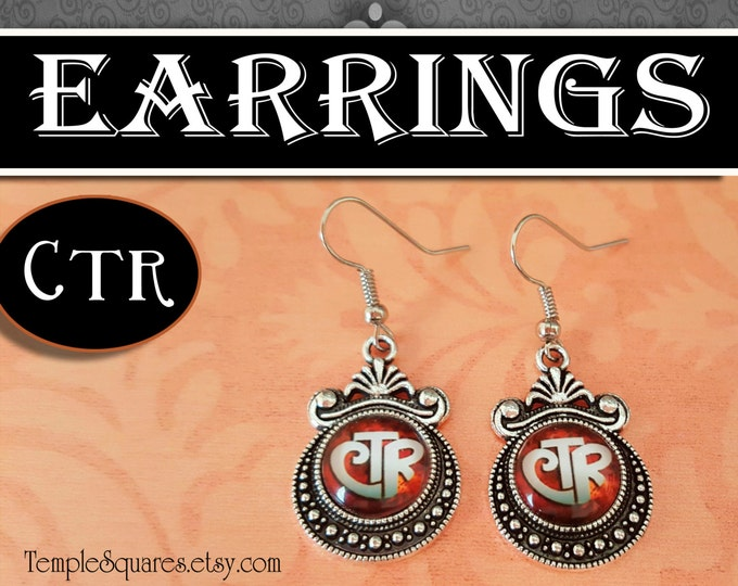CTR Choose The Right Jewelry Earrings LDS Gifts for Christmas, Birthdays, Presidency, Teacher Appreciation, Seminary, Stocking Stuffers