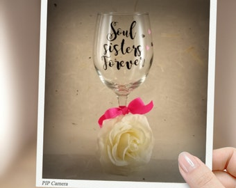 Soul Sisters Forever Personalized glass
