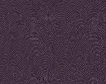 Scallop Dot in Eggplant - Dear Stella quilting cotton fabric