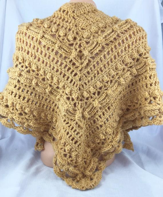 Gold Schal Schal häkeln Alpaka-Schal formale Schal häkeln