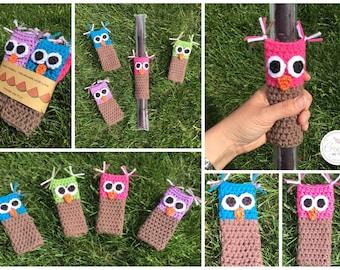 Owl Freezie Holders FREE SHIPPING!crochet freezie holders, crochet freeze pop holders, freeze pop holders, handmade freeze holders