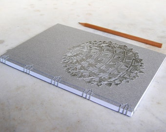 Sacred Geometry. Embroidered Notebook. Sacred Geometry Journal. Sacred Geometry Art. A5 Journal. Science Art. Sacred Geometry Notebook