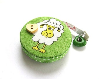 Tape Measure Fluffy and Sheared Sheep Retractable Tape Measure