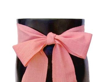 Blossom Pink Sash, SA19 - Woven Sash Belt - Guatemalan Fabric - Gypsy Clothing - Bohemian Belt - Gypsy Sash