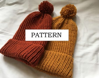 Colonel Ribly Knitting Pattern | Beginner Knitting Pattern | Ribbed Hat Knitting Pattern