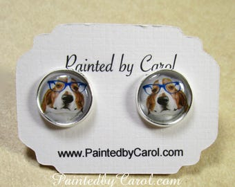 Basset Hound Earrings, Basset Jewelry, Basset Studs, Basset Lever Backs, Basset French Wires, Basset Hound Gifts, Basset Post Earrings