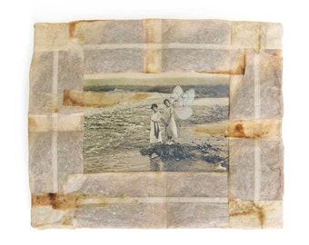 Original Mixed Media Art, Collage Print, Tea Bags, Media Assemblage, Ready to Hang