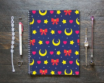 Large Notebook (Gridded or Lined/170 Pages) | On Behalf of the Moon Planner