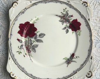 Royal Stafford Roses To Remember Cake Plate