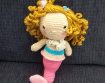 Mermaid Doll - Pink/Turquoise - FREE SHIPPING