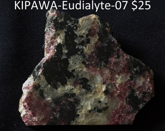 Eudialyte slab from Quebec, Canada