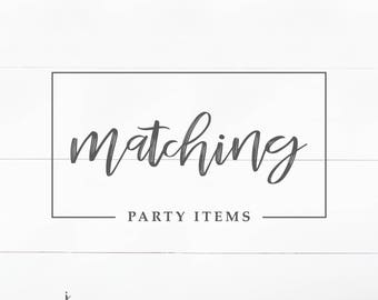 Matching Party Items