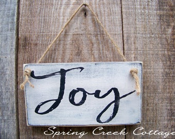 Wood Signs, Name Plaques, Personalized Name Signs, Joy, Wood Sign, Handpainted, Rustic Wood Signs, Religious, Wall Decor, Gifts, Home Decor
