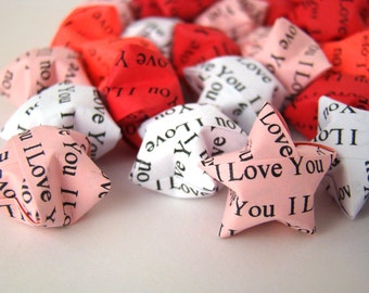 100 Origami Lucky Stars - I Love You