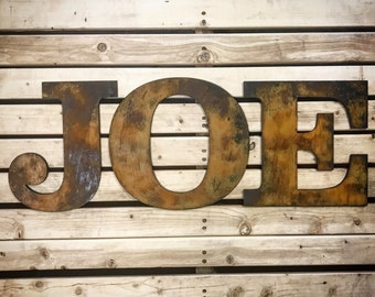 Rustic Letters-Home Decor-Wall Art-Wall Letters-Family Letter-Letter Decor-Rustic Decor-Wood Letters-Boys Room Decor