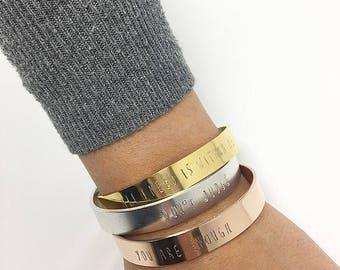 Gold • Rose Gold • Silver• Personalized • Stackable • Bracelets • Mother's Day gift
