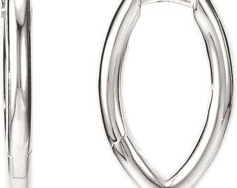 Sterling Silver Hoop Hinged Earrings