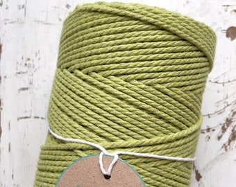 Pistachio Twisted Macrame Cotton Rope 1.5mm