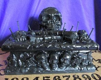 Twisted Black Skull Jewelry Box