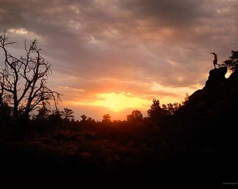 Landscape Photography, Sunrise at Craters of the Moon, Size 8x12 inches, Sunset Photo, Nature