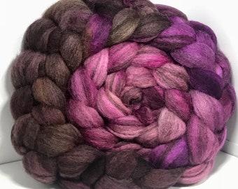 Spinning Fiber BFL Swirl- 5oz - Pink Squirrel 1