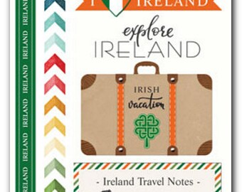 Travel Stickers - Ireland and Dublin Adventure - Vacation Scrapbooks - Crafts - Journals - Kids - 22 Irish Stickers