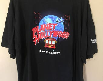 Vintage Planet Hollywood San Fransisco Grand Opening July 16 ,1995 Promo T Shirt