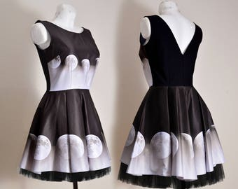 Moon phases fall winter dress L 40 10 size dress ready to send