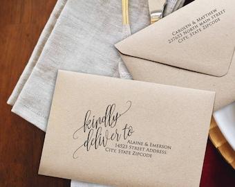 Wedding Envelopes, Printable Envelope,  DIY Wedding Address Envelope, DIY Wedding Envelope Addressing Template, Instant Download