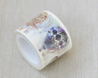"""1.18"""" (30mm) Width Colorful Hot Air Balloon Wide Washi Tape 5 yards No. 12131"""