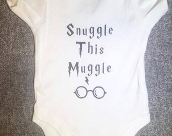 Snuggle This Muggle Baby Babysuit