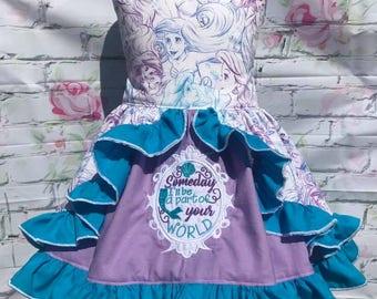 Mermaid peek a boo back dress