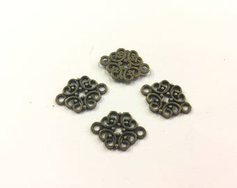 bronze 20x13mm 20 spacer connectors for jewelry designs